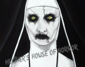 Postcard prints - Heather's House of Horror - Valak - Demon Nun - The Conjuring 2 - Ed and Lorraine Warren - Horror art - limited print