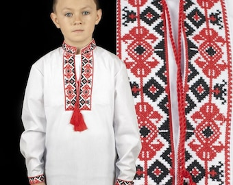 Сhildren's embroidered Ukrainian shirt, sorochka (vishyvanka) for a boy :2-12 years