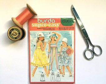 Burda Patterns. Kids Sewing Patterns. Uncut. Dress Patterns. Overalls Patterns. Vintage Clothes. French Fashion. Patron couture enfants