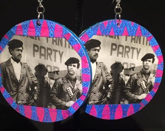 Black Panther Party Earrings