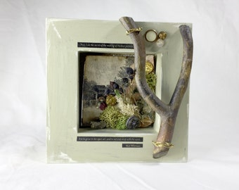 Walt Whitman Nature Shadowbox — Nature Tribute Shadowbox Art—Walt Whitman Nature Collage