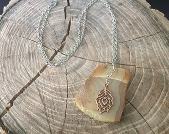 Brown Tone Stone Necklace