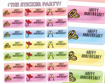 Happy Anniversary Planner Stickers | ERIN CONDREN