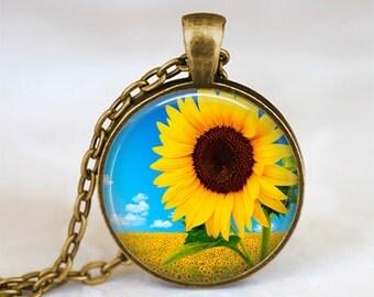 Sunflower - Nature Flower Handmade Pendant Necklace
