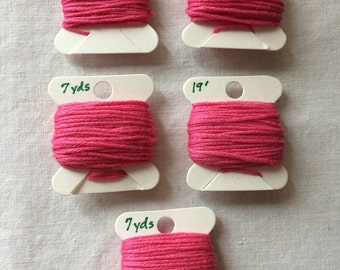 Lot of 5 Bobbins of Embroidery Floss in Bright Pinks