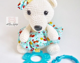Aurora the Polar Bear Stroller or Car Seat Toy