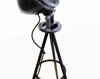 Industrial Floor Lamp, Man cave lighting, Steampunk Lamp, Vintage Industrial Lighting, Edison Bulb, Unique Floor Lamp, Gift for Him