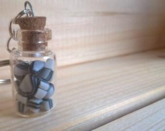 Retro Mint Humbug's in Minature Jar Key Chain