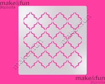 Quatrefoil  Pattern Cake Stencil, Cookie Stencil, Designer, Pochoir, Airbrush stencil, Torten Schablone