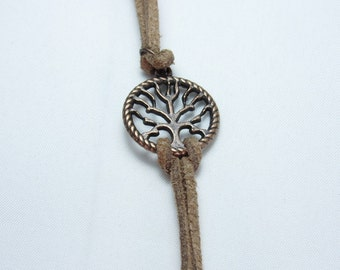 Tree of Life Suede Leather bracelet, Men's bracelet, Lady's bracelet