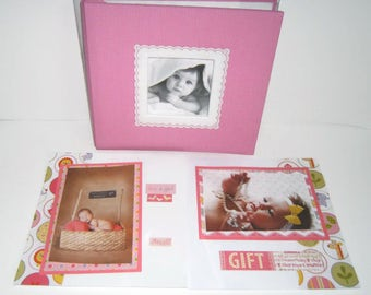 Baby Girl Shower Gift - Baby Girl Scrapbook Album - Baby Girl Photo Album - Baby Shower Gift for a Girl - Premade Baby Girl Scrapbook