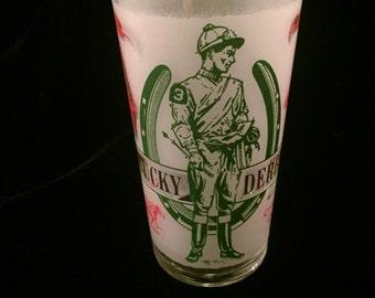 FREE SHIPPING-1969-Official-Kentucky Derby-5 1/2 inch-Mint Julip -Glass