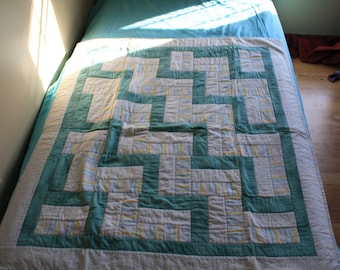 Baby Quilt Green and Yellow