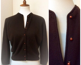 Vintage Mod Chocolate Brown Sweater