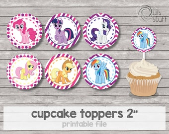 Printable My Little Pony cupcake toppers