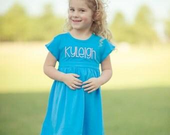 Dress with monogram, Monogram Dress, Personalized Dress, Easter Dress, Spring Dress, Graduation Dress, Personalized outfit, dress with name