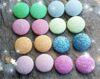 Glitter buttons, glitter embellishments, buttons , resins,  centers, glitter crafts