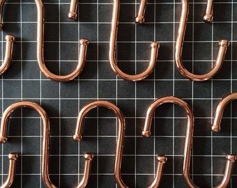 "x6 3"" Copper 'S' hooks"