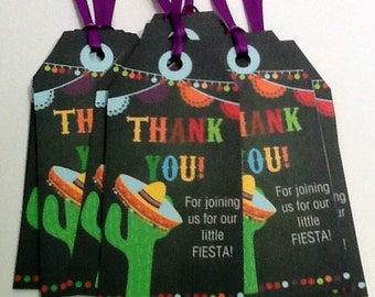 10 Fiesta Party Favor Tags