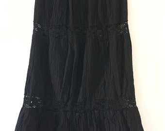 Mexican Black Long Skirt