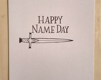 Happy name day card