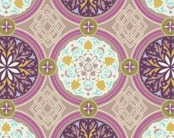 Art Gallery Bazaar Style Medallion in iron -  cotton quilting fabric by the yard