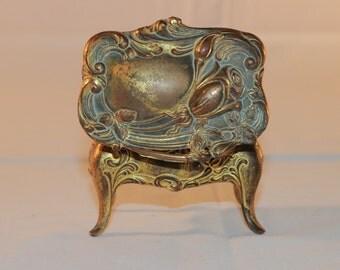 Small Antique Victorian Ormolu Gilt Metal Box