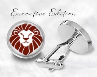 Lion Head Cufflinks - Lion Cuff Links - Animal Cufflink - Safari Cufflinks - Zoo Cufflink (Pair) Lifetime Guarantee (S0471)