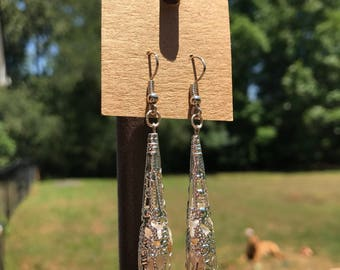 Silver Filigree and Pearl Drop Earrings