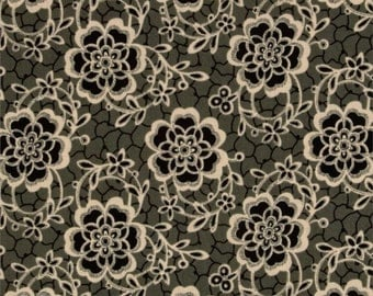 10.50 YARD - Downton Abbey The Women's Collection Dowager Countess Floral Black 7319 K by Andover Fabrics