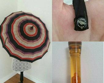 Vintage Umbrella with Bakelite Handle, Deco Umbrella,made in Canada by Brophey. Sold as Display. Vintage Parasol.