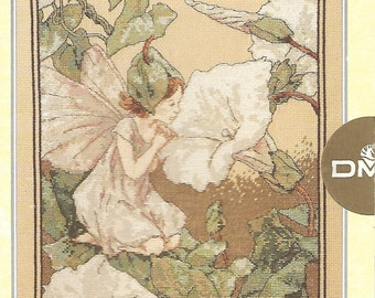 DMC, The Ultimate Cross Stitch Chart Collection, Ref: PC25, White Bindweed Fairy  Cecily Mary Barker, 1996