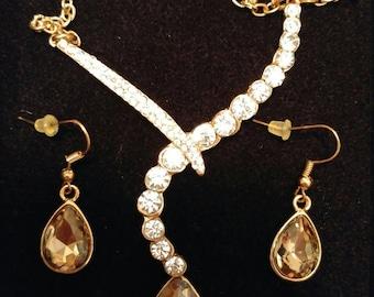 Tear drop Jewellery Set