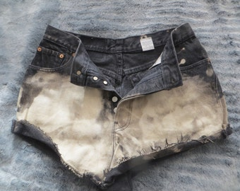 Levis Short/acid wash/high waist/button up/woman/women/ladies/boys/man/men/cotton/all weather shorts