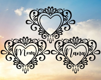 Mom Svg, Nana Svg, Heart Svg, Mother's Day Svg, Valentine's Day Svg, Grandma Svg, Family Svg, Nana Decal