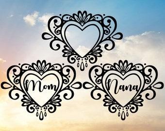 Mom Svg, Nana Svg, Heart Svg, Mother's Day Svg, Valentine's Day Svg, Grandma Svg, Family Svg, Nana Decal