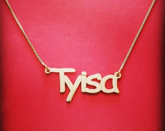 10 ct Gold Name Necklace 10ct Name Necklace 10 Carat Gold Name Necklace 10k Gold Name Pendant Personalized 10k Gold Name Necklace