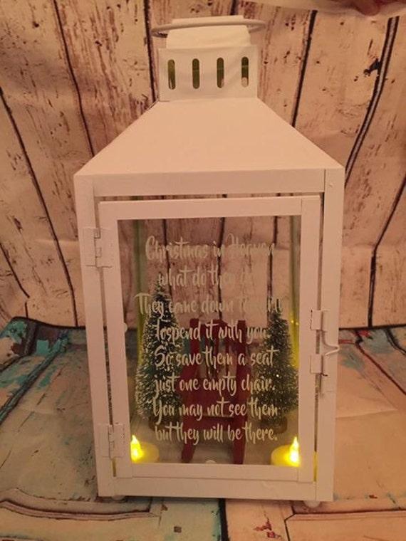 Empty Chair Christmas Memorial Lantern