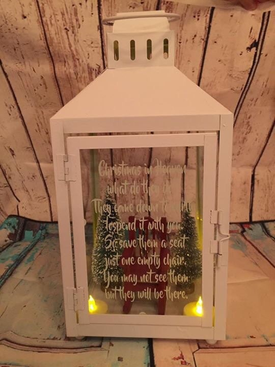 Empty Chair Christmas Memorial Lantern