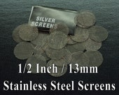 """30 Stainless Steel Screens 1/2"""". • High quality Durable Smoking Screens • Better Than Brass • Ember Out Pipes • Smoking Pipe"""