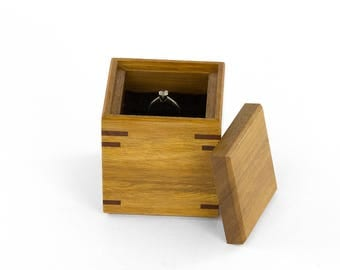 Wooden Ring-Bearer Box made from Australian hardwoods, Proposal Ring Box, Wedding Ring Box, Engagement Ring Box, Australian made.