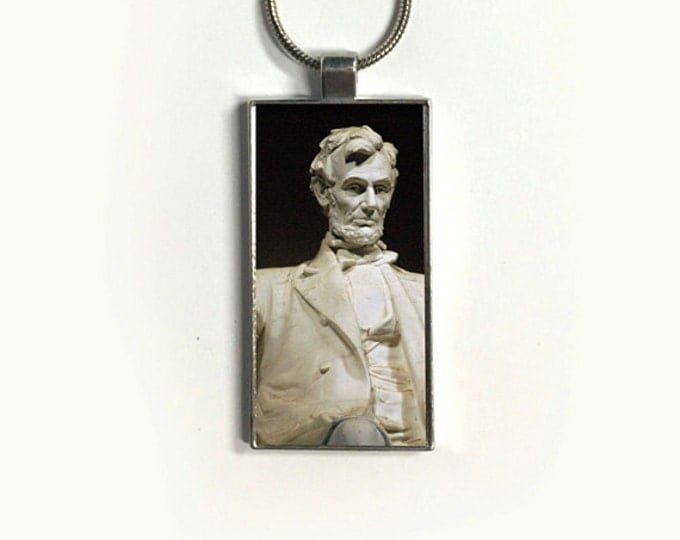 Necklace LINCOLN, Pendant, Politic, Patriotic, USA, sublimation, gift for friends
