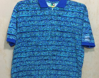 Vintage OFF SHORE Brand Surfing Polo Shirt Men's Medium Size