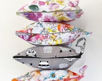 Zippered Clutch - handbag / nappy bag / purse