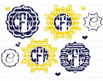 monogram frame svg, summer monogram svg, sun monogram svg, circle monogram frame svg, monogram svg frame, monogram svg files, monogram svg