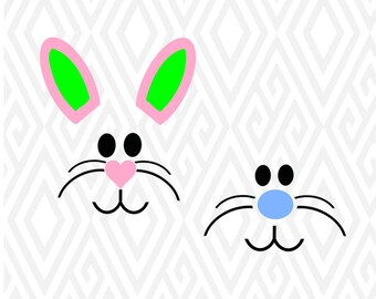 Bunny Face SVG, Studio 3, DXF, AI, ps and pdf Cutting Files for Electronic Cutting Machines