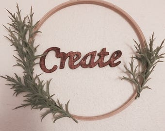 Minimalist Embroidery Hoop Wall Decor