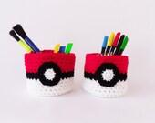 Pokémon Pot / Crocheted / Acrylic Yarn / Geeky / Storage / Machine Washable / Ready to Ship
