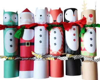 Downloadable Christmas Character Crackers