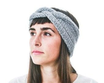 Alpaca Merino Braided Headband, very soft and warm knit headband